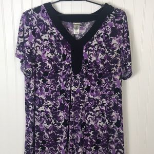 Just My Size JMS plus size 4X floral dress box49